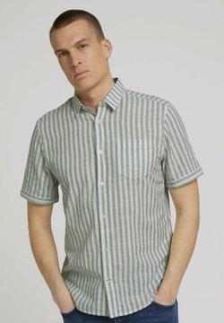 TOM TAILOR - Hemd - green white big stripe