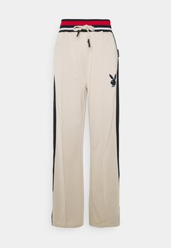 Missguided Tall - PLAYBOY VARSITY TRICOT PANTS - Jogginghose - stone