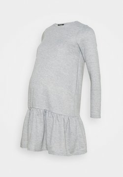 New Look Maternity - DROP HEM DRESS - Trikoomekko - mid grey