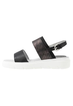 Geox - Korkeakorkoiset sandaalit - black