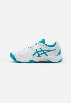 ASICS - GEL-RESOLUTION 8 UNISEX - Tennisschoenen voor alle ondergronden - white/lagoon