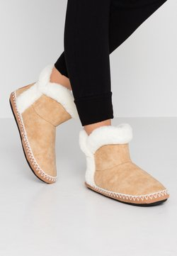 Superdry - SLIPPER BOOT - Chaussons - tan