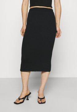 VILA PETITE - VICOMFY SKIRT - Falda de tubo - black
