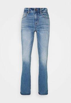 American Eagle - HI RISE SKINNY KICK  - Jeans a zampa - monaco blue