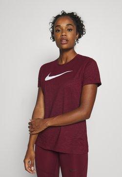 Nike Performance - DRY TEE CREW - T-Shirt print - dark beetroot/desert berry