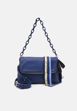 Desigual - BOLS EMBOSSED HALF LOGO VENECIA - Across body bag - blue