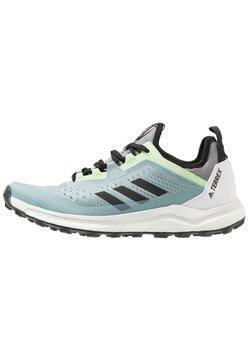 adidas Performance - TERREX AGRAVIC FLOW - Zapatillas de trail running - ash grey/core black/glow green
