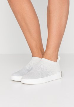 DKNY - SAYDA SOCK  - Loafers - silver/white