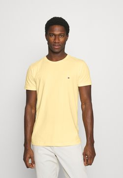Tommy Hilfiger - STRETCH SLIM FIT TEE - Camiseta básica - delicate yellow
