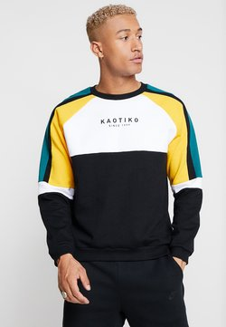 Kaotiko - Sweatshirt - black/white/yellow