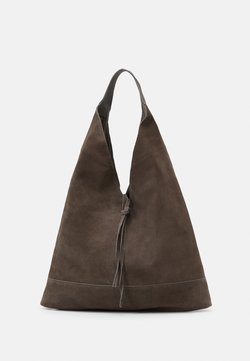 Zign - LEATHER - Bolso shopping - anthracite
