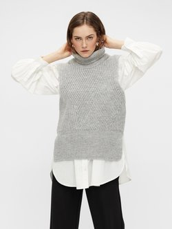 YAS - YASBRAVO - Strickpullover - light grey melange