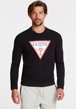 Guess - SWEATSHIRT LOGODREIECK - Sweatshirt - black