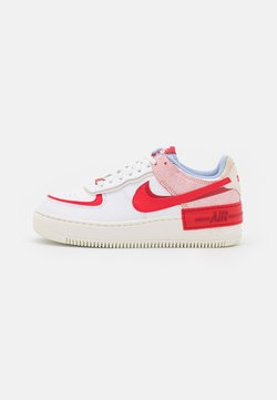 Nike Sportswear - AIR FORCE 1 SHADOW - Sneaker low - summit white/university red/gym red/sail