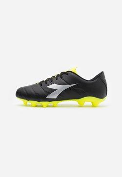Diadora - PICHICHI 3 MG14 - Voetbalschoenen met kunststof noppen - black/yellow fluo/silver
