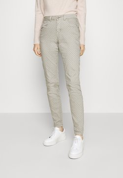 Cream - ANNIE PRINTED COCO FIT - Trousers - dusty grey