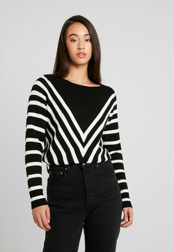 Noisy May - NMARIA L/S BOATNECK KNIT - Strickpullover - black