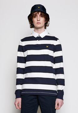Lyle & Scott - STRIPED RUGBY RELAXED FIT - Poloshirt - dark navy