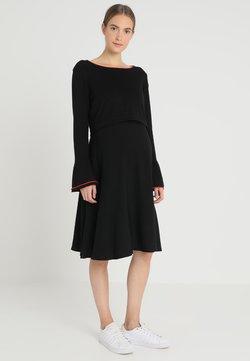 Esprit Maternity - DRESS MIX NURSING - Gebreide jurk - black