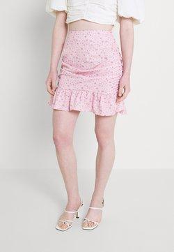 Missguided - FRILL HEM MINI SKIRT  - Minirock - pink