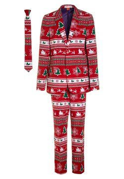 OppoSuits - TEEN BOYS WINTER WONDERLAND SET  - Puku - dark red