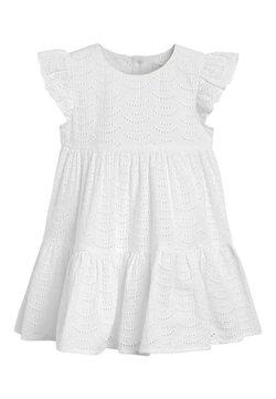 Next - WHITE TIERED BRODERIE DRESS (3MTHS-7YRS) - Freizeitkleid - white