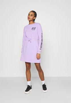 Even&Odd - sweat mini drawstring waist dress - Vestido informal - lilac/black