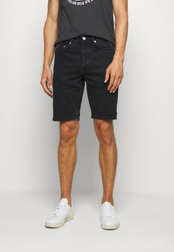 Solid - Jeansshort - black denim