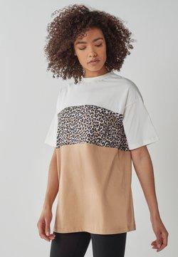Next - COLOURBLOCK  - T-Shirt print - off-white