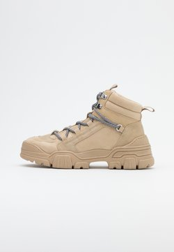 ONLY SHOES - ONLSYLKE LACE UP - Ankle Boot - sand