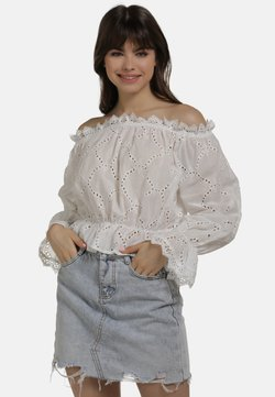 myMo - BLUSE - Bluse - weiss