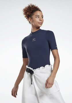 Reebok - LES MILLS® SHORT SLEEVE BODYSUIT - T-shirt imprimé - blue