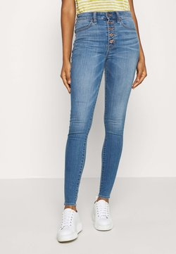 American Eagle - SUPER HI-RISE - Jeans Skinny Fit - campus brights