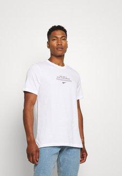 Nike Sportswear - TEE - T-shirt imprimé - white/black