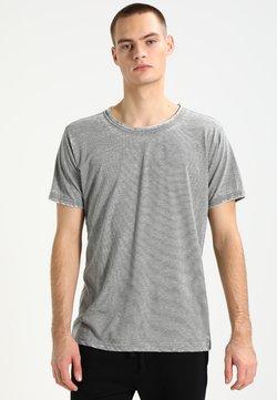 Urban Classics - STRIPE BURN OUT - T-Shirt print - light olive