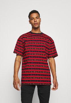 Karl Kani - STRIPE TEE - T-Shirt print - red