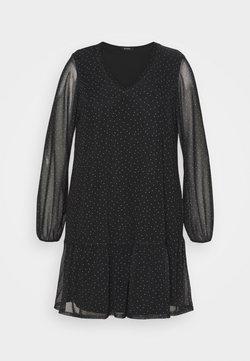 Evans - BLACK SPOT TIERED DRESS - Freizeitkleid - black
