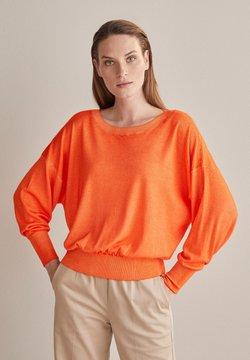 Falconeri - MIT WEITEM ARM - Stickad tröja - orange - 8574 - arancio