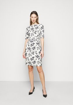 Lauren Ralph Lauren - PRINTED MATTE DRESS - Vestido ligero - lemon ivory