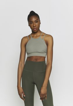 Nike Performance - INDY YOGA BRA - Sport-BH mit leichter Stützkraft - light army/light army/stone