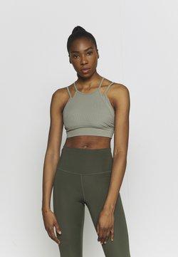 Nike Performance - INDY YOGA BRA - Brassières de sport à maintien léger - light army/light army/stone