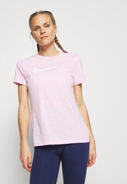 Nike Performance - DRY TEE CREW - Printtipaita - pink foam