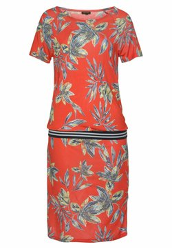 LASCANA - Jerseykleid - rot-bedruckt