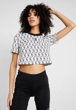 adidas Originals - MONOGRAM CROPPED SHORT SLEEVE GRAPHIC TEE - T-Shirt print - black/white