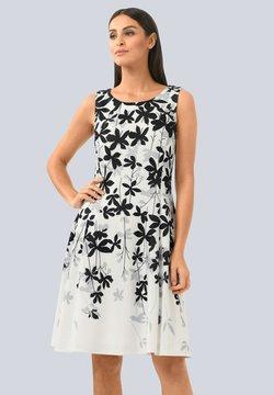 Alba Moda - Freizeitkleid - off-white grau schwarz