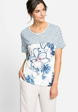 Olsen - RUNDHALS - T-Shirt print - blau