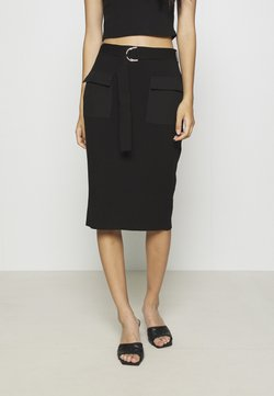 4th & Reckless - CAPPUCCINO SKIRT - Jupe crayon - black