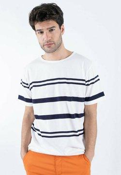 Armor lux - T-Shirt print - blanc/navire