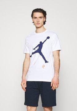 Jordan - JUMPMAN AIR CREW - T-shirt con stampa - white/blue void