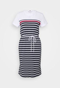 Tommy Hilfiger - BALOU REGULAR DRESS - Jerseyjurk - desert sky